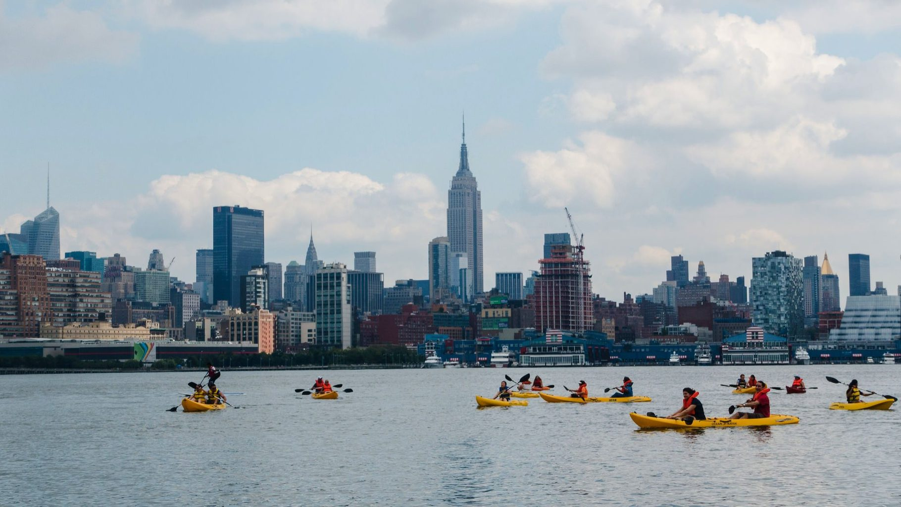 Manhattan Community Boathouse kayaking