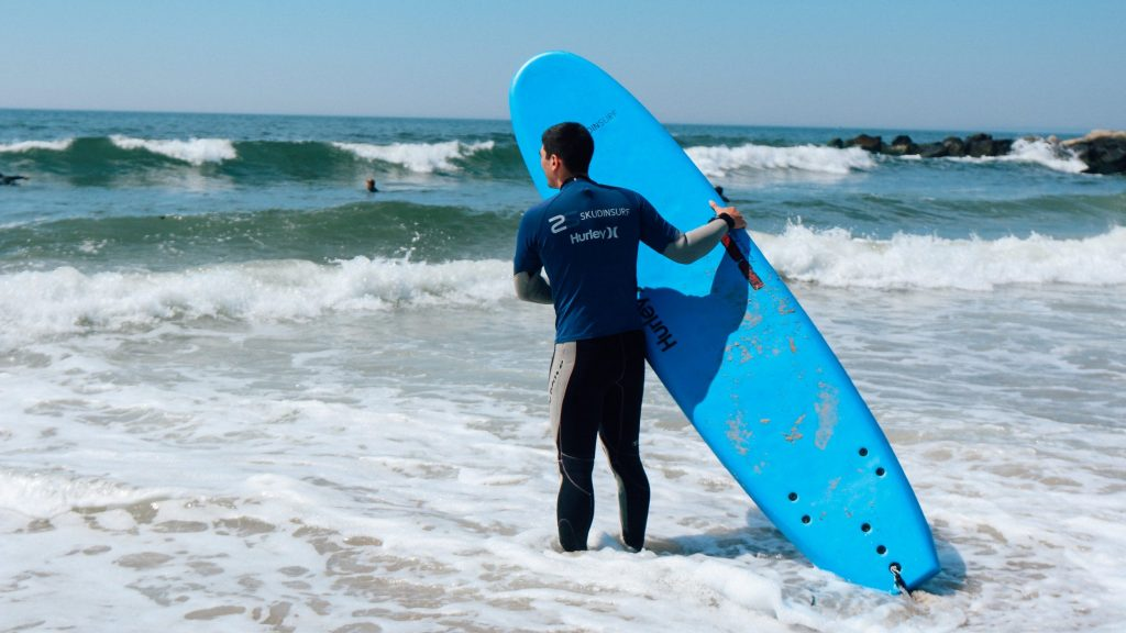 Surfing in Rockaway Beach
