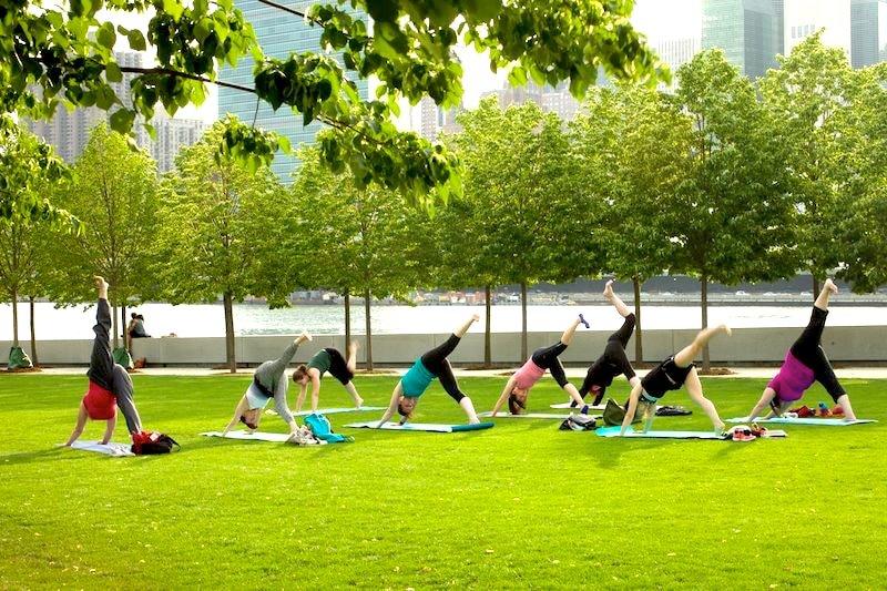 Yoga Four Freedoms Park