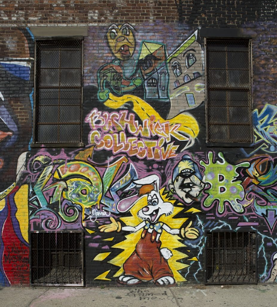 the bushwick collective street art with various artists
