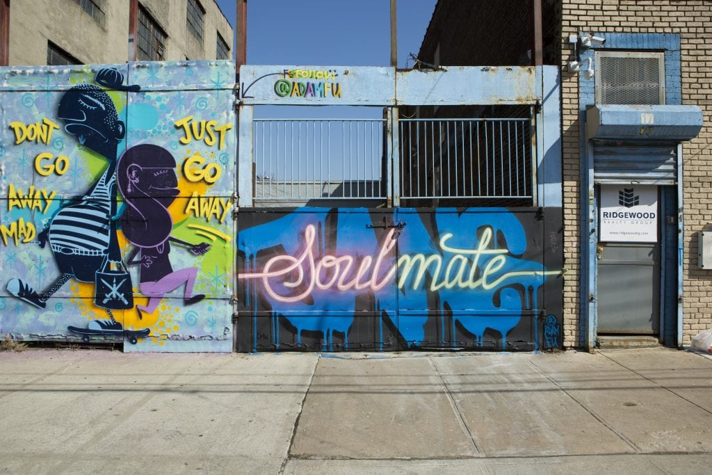 the bushwick collective street art soul mate