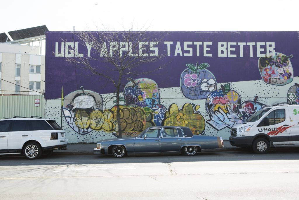 bushwick street art thames and bogart streets ugly apples taste better