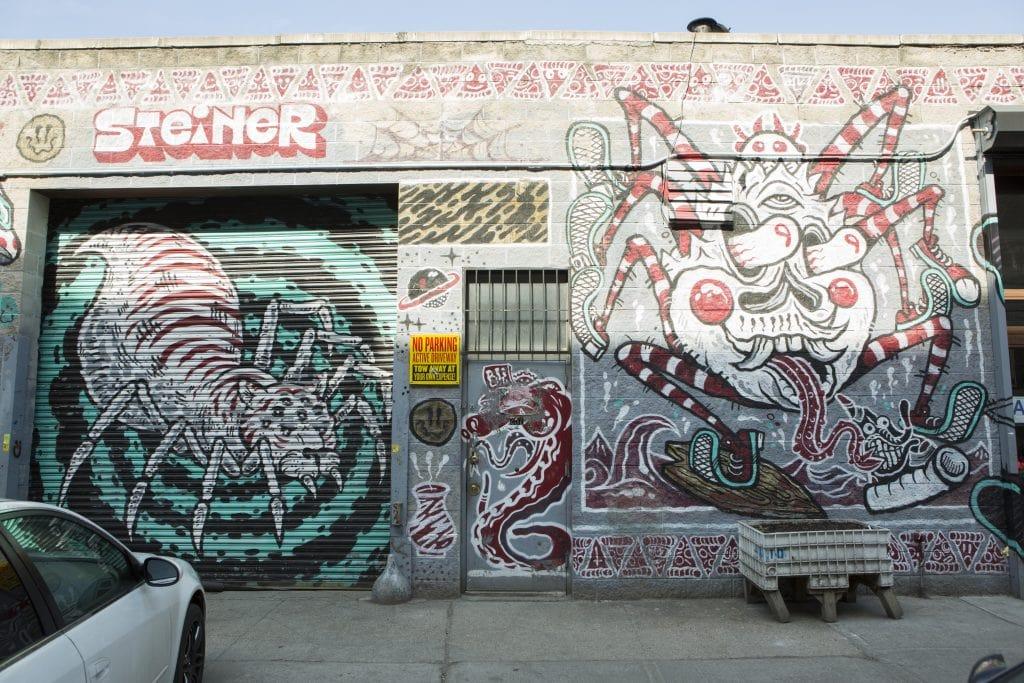 bushwick street art White Street to Moore Street robertas pizza with artist steiner