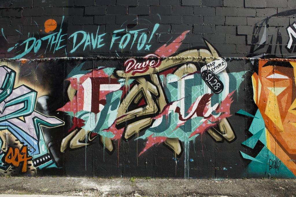 bushwick street art White Street to Moore Street graffiti tags davefoto