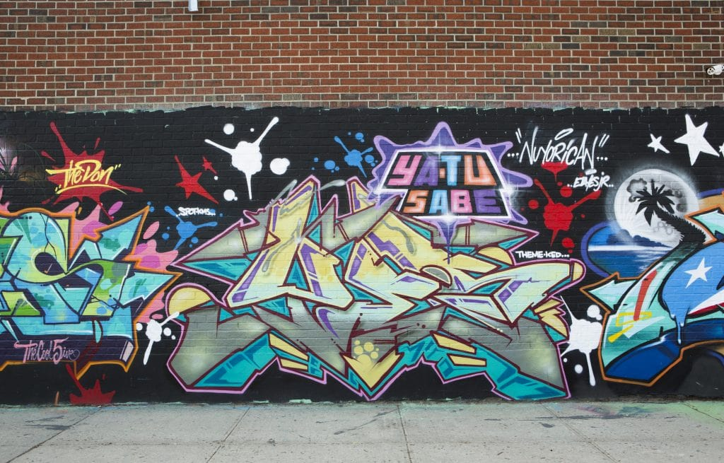 bushwick street art White Street to Moore Street graffiti tags yatu sabe