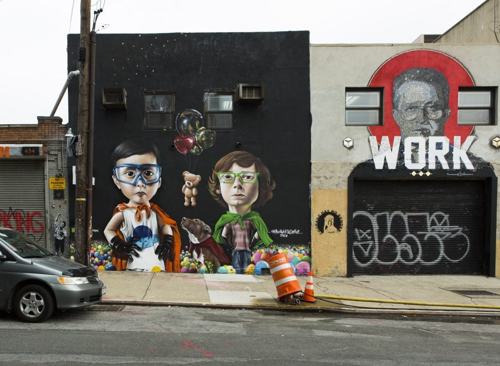 the bushwick collective street art sipros and mosaic piece