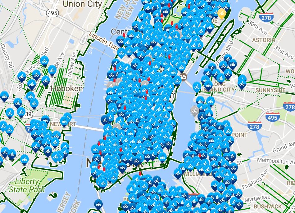 The 8 Best Bike Maps for New Yorkers - offMetro NY Citibike Location Map on