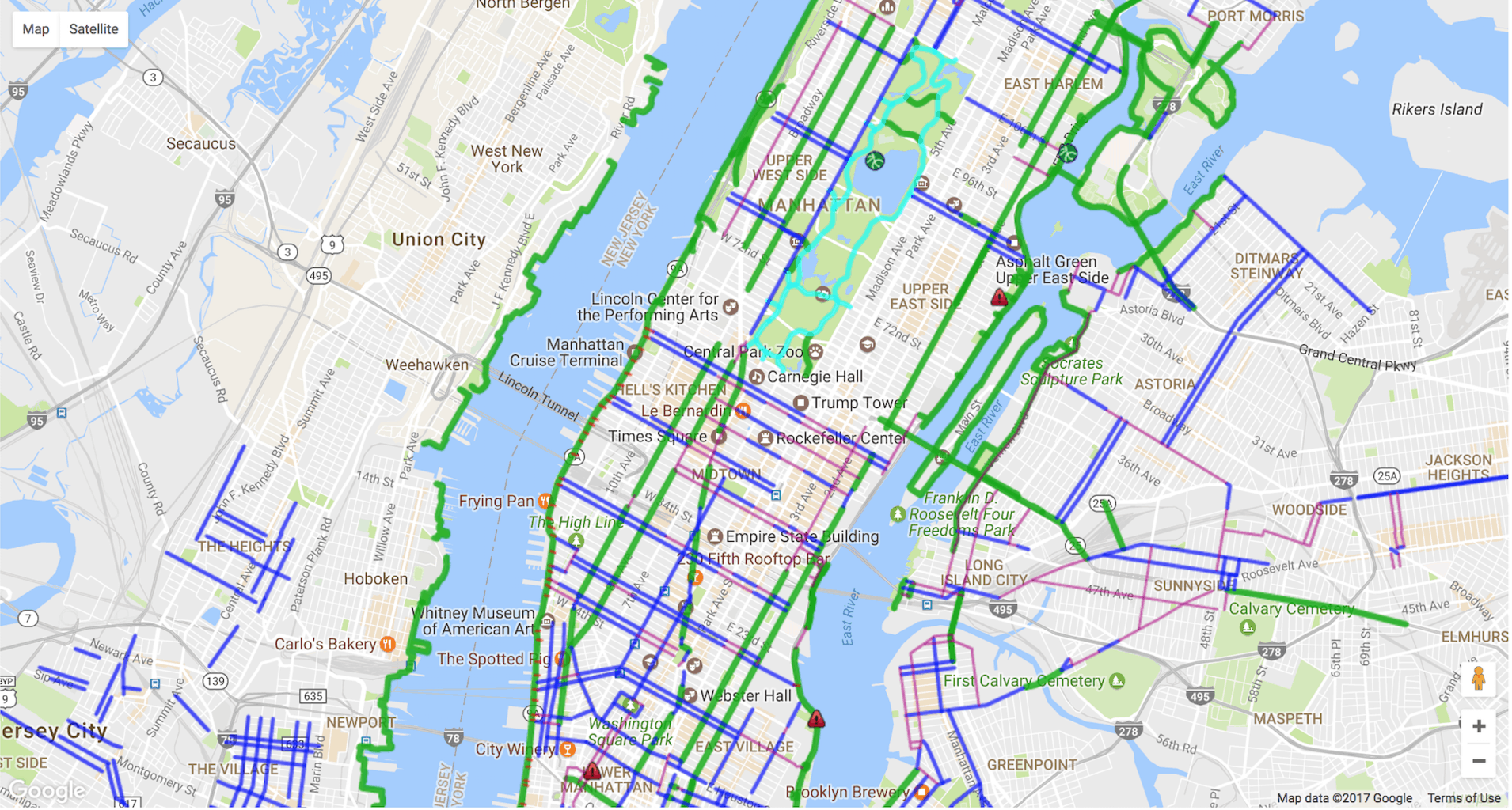 Bike New York Map.The 8 Best Bike Maps For New Yorkers Offmetro Ny