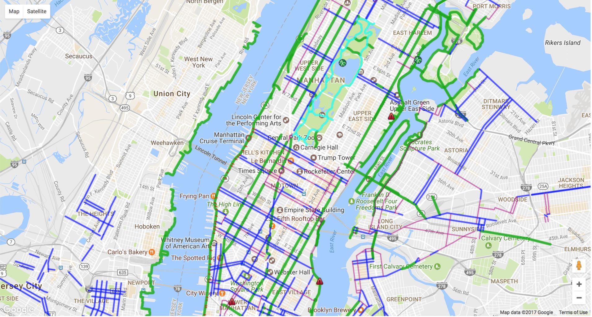 Bike Lane Nyc Map.Bike Lane Map Nyc Country Map