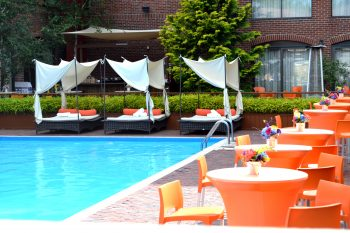 Pool at Marriott Providence Downtown