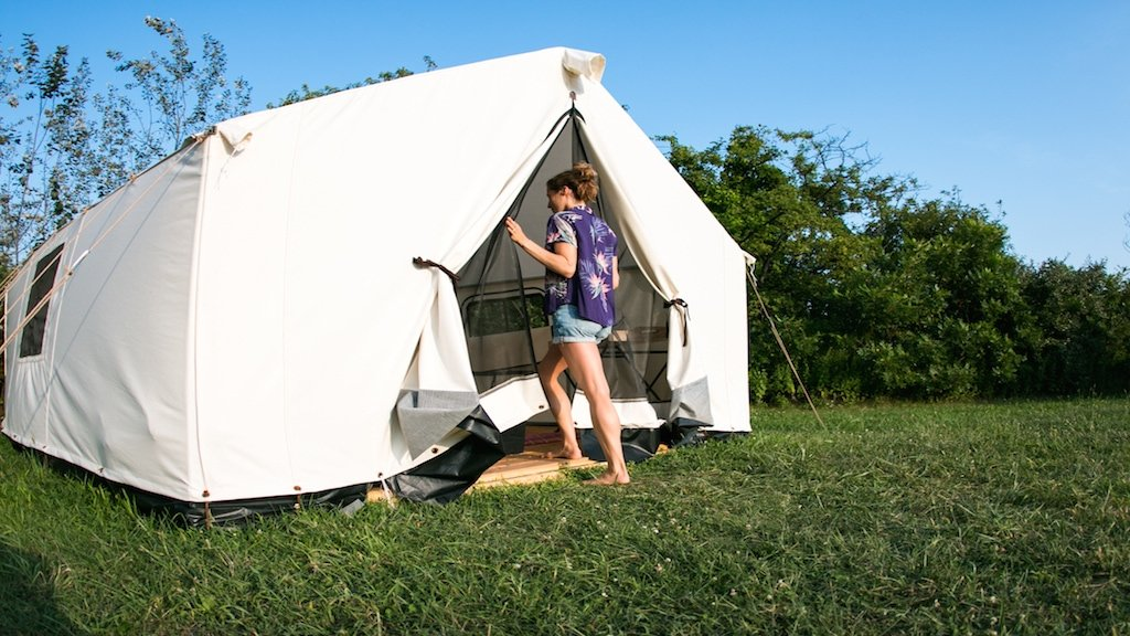 Terra Glamping tent at Fort Tilden