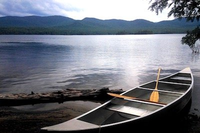 Canoe on Elk Lake