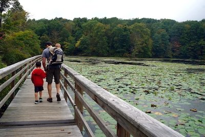 Teatown lake reservation hiking baby