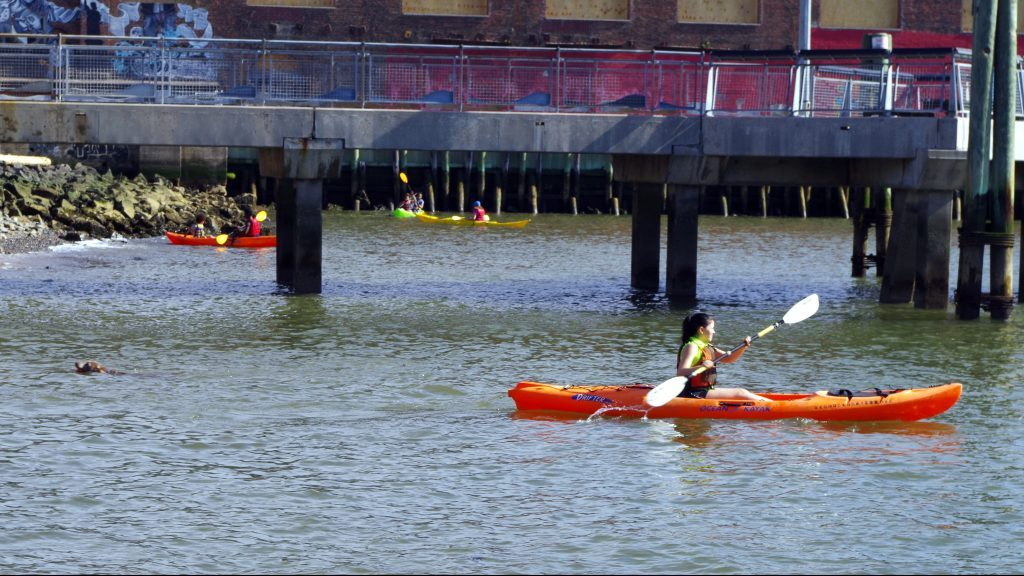 Kayaking in Red Hook by Camille Aussourd