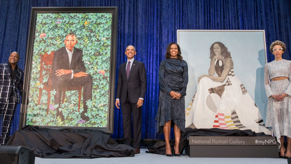 National Portrait Gallery DC Obamas