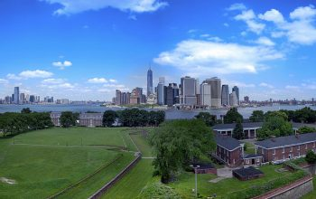 Governors Island aerial view