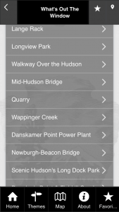 whats out the window hudson train tour app