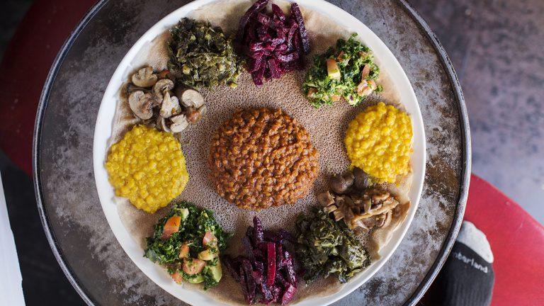 Bunna Cafe ethiopian feast