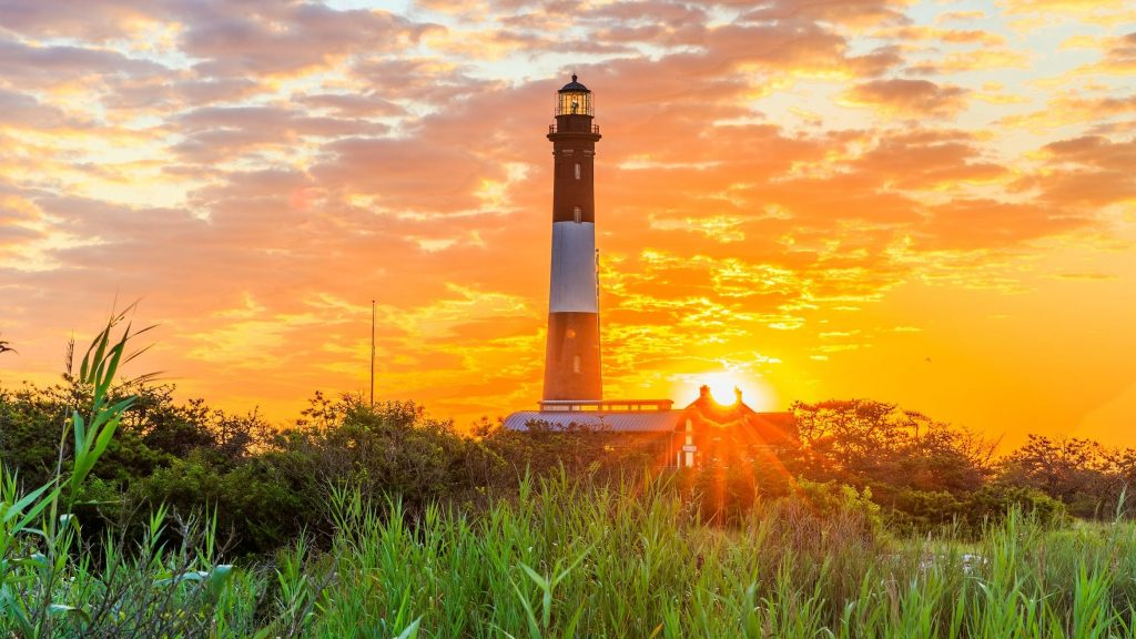 fire island lighthouse sunset
