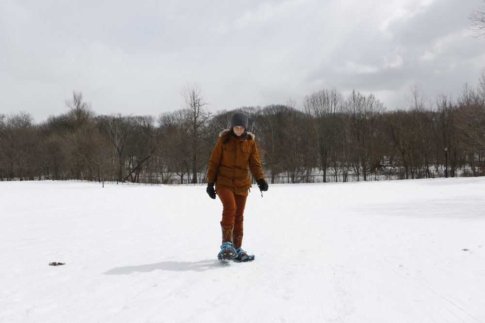 Snowshoeing in Prospect Park