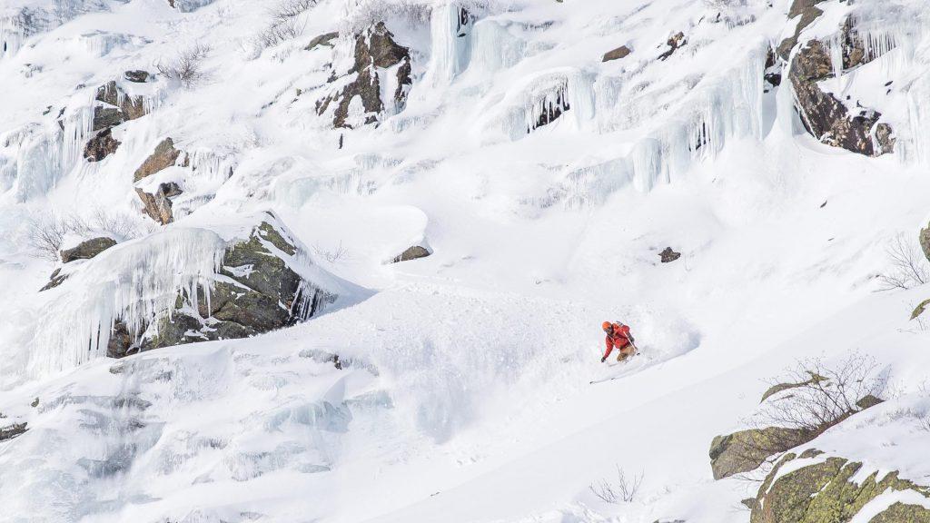 Skiiing in Tuckerman Ravine
