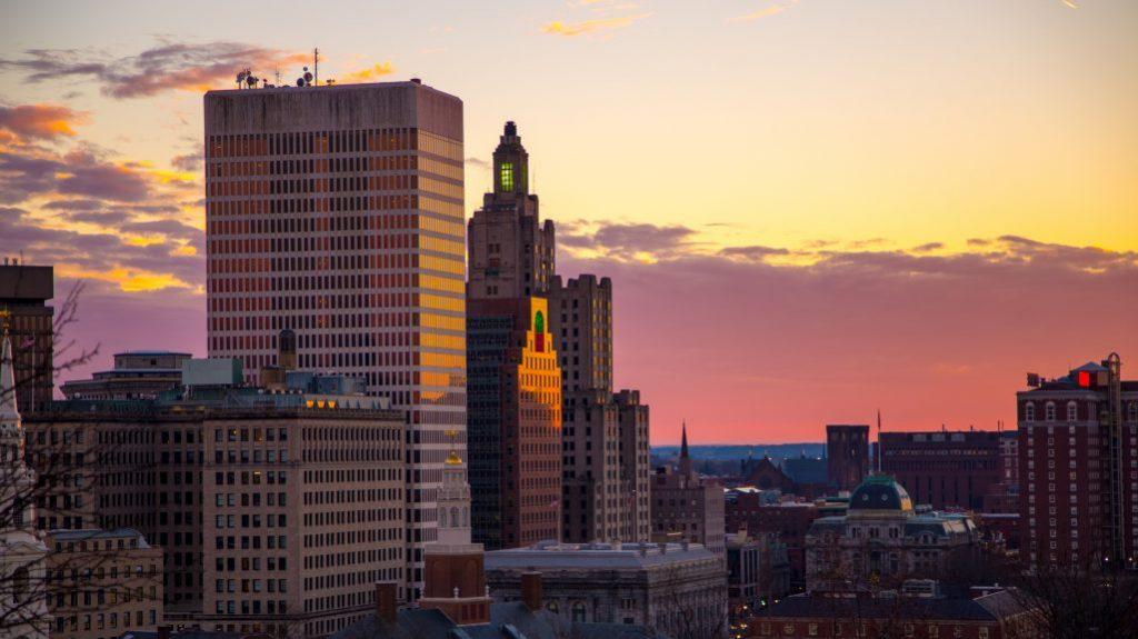 Providence Winter Skyline