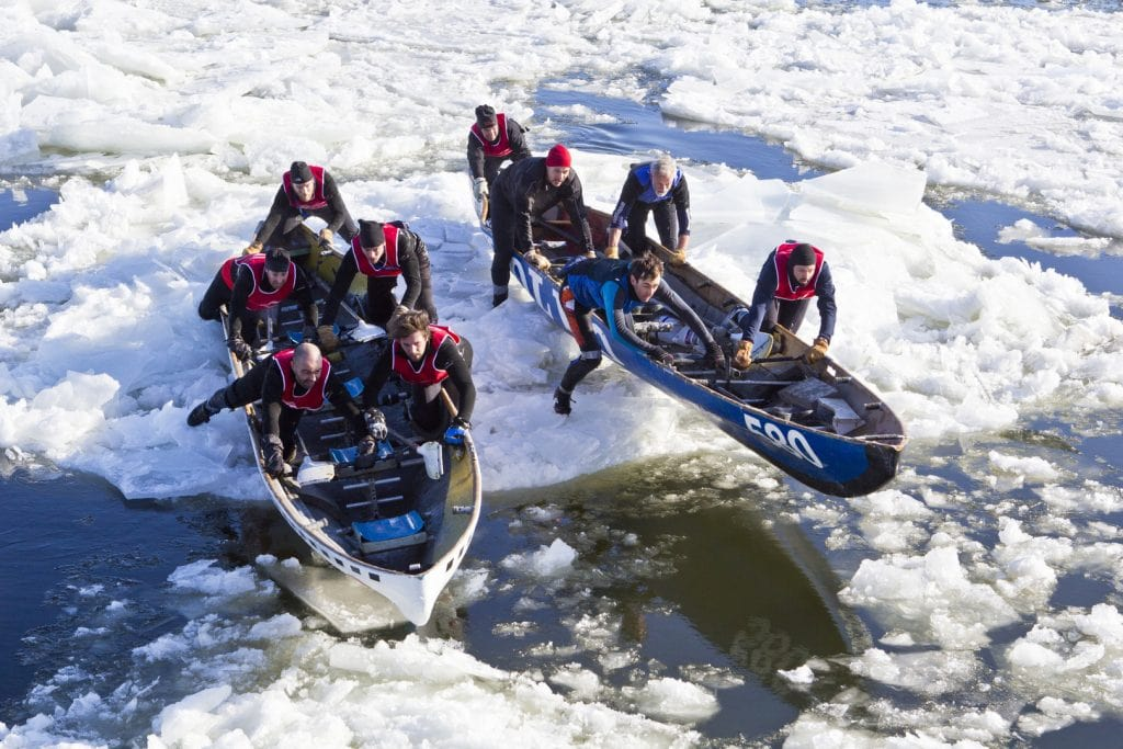 Carnaval de Québec ice canoeing