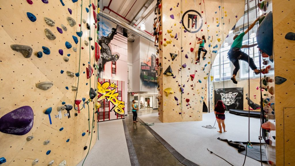Climbing at Brooklyn Boulders