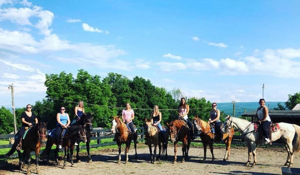 Horseback riding at Pine Ridge