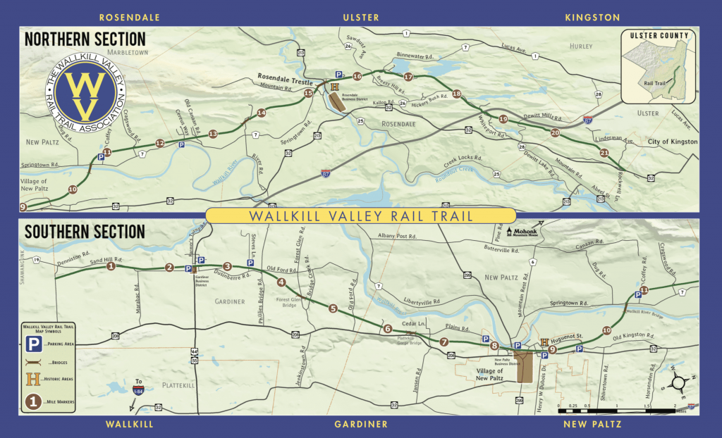 Wallkill Valley Rail Trail Map
