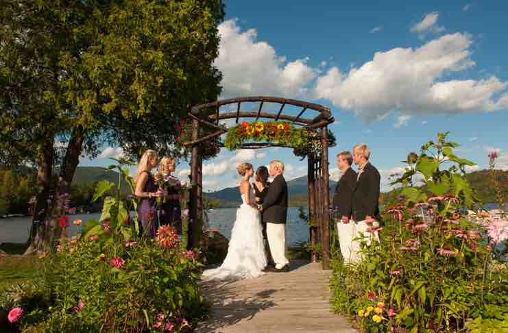 wedding at lake placid