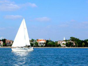 Charleston Sailing in the Harbor